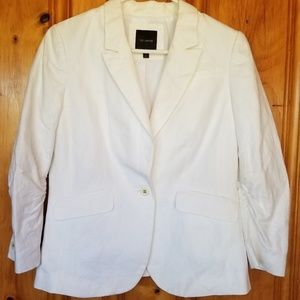 The Limited white linen blazer